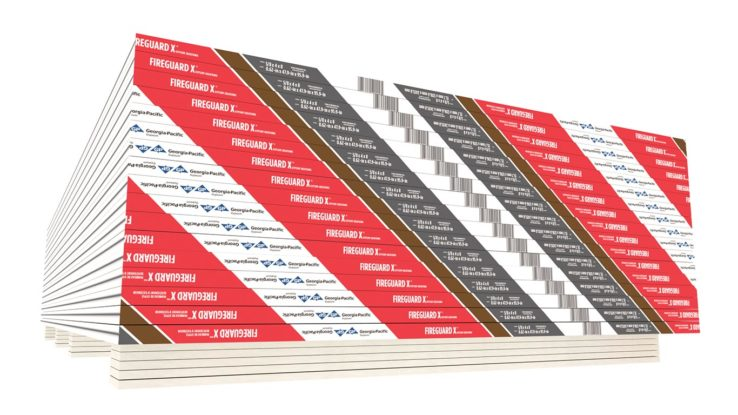 ToughRock Fireguard X Gypsum Sheathing Fire-Rated