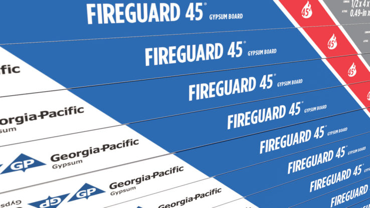 ToughRock Fireguard 45 Fire-Rated Gypsum Wallboard