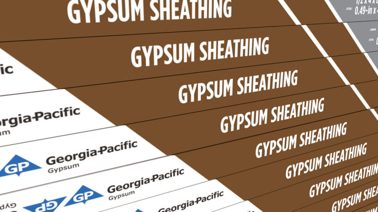 Georgia-Pacific ToughRock Gypsum Sheathing