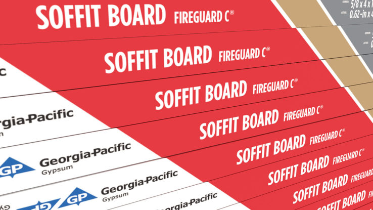 ToughRock Fire-Rated Gypsum Soffit Board