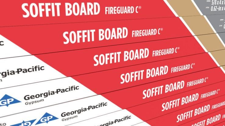 Fire Rated Gypsum Soffit Board Toughrock Fireguard C Soffit