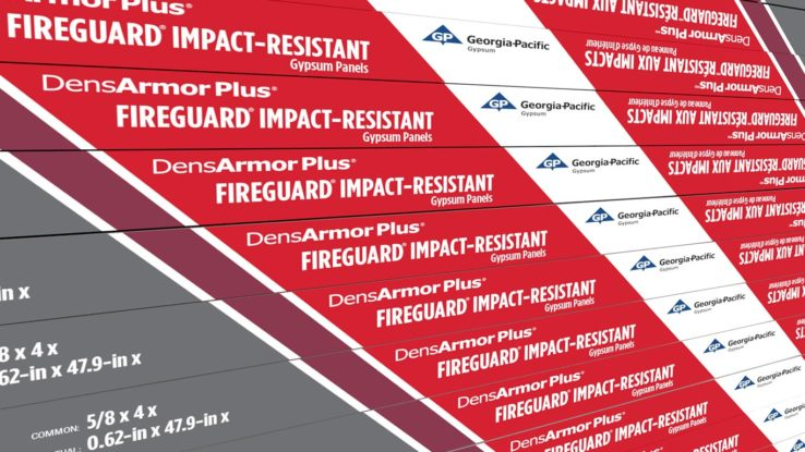 DensArmor Plus Fireguard Abuse-Resistant Interior Panels