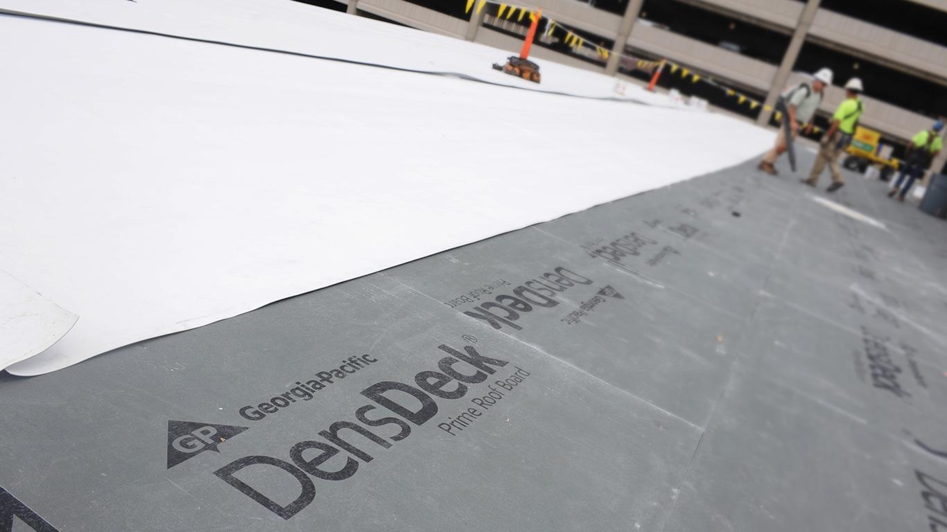 Densdeck prime roof board gypsum